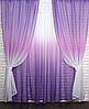 Готовые шторы в комплекте с тюлем, фото 5