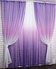 Готовые шторы в комплекте с тюлем, фото 7