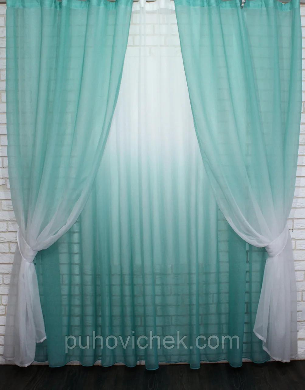 Готові штори в комплекті з тюлем