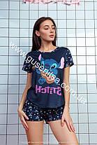 Женская пижама Стич темно-синий  КАЧЕСТВО ТОП!!!