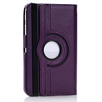 Кожаный чехол-книжка TTX (360 градусов) для Samsung Galaxy Tab 3 8.0 T3100/T3110 Сиреневый