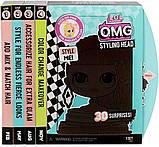 Лол манекен для причесок Леди Неон LOL Surprise OMG Styling Head Neonlicious, фото 3