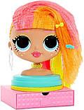 Лол манекен для причесок Леди Неон LOL Surprise OMG Styling Head Neonlicious, фото 5