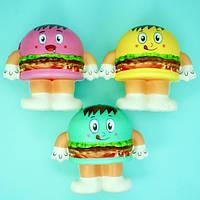"""Сквиши """"Гамбургер"""",9 см  мнялка, антистресс для рук (Squishy), набор 12 шт"""