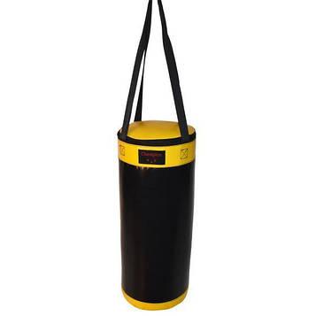 Мешок боксерский Champion 560 мм * 250 мм черно - желтый  ПВХ