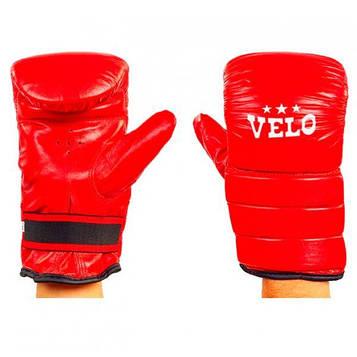 Снарядные перчатки кожаные VELO красные 4003ULIZ-M