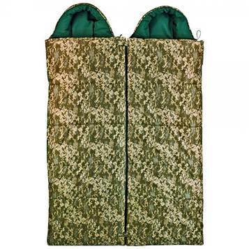 Спальный мешок Champion Турист камуфляж. Комплект 2шт L+R