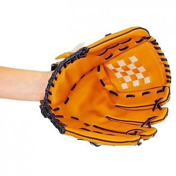 Перчатка (ловушка) для бейсбола цвет желтый PVC, р-р 11,5