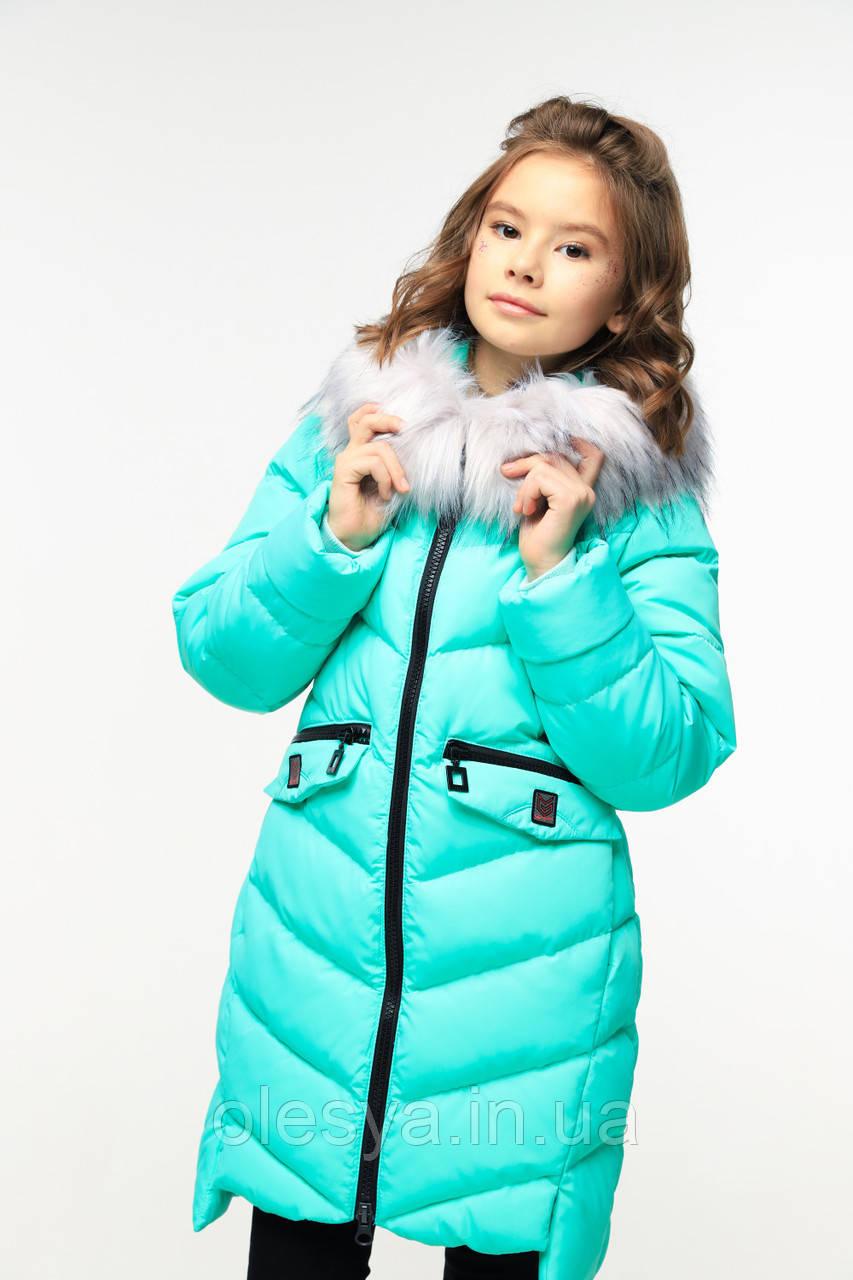 Пальто детское зимнее на девочку Афина тм Nui Very Размеры 30 38 42