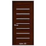 Двери межкомнатные Мода Леона Новый Стиль Экошпон со стеклом сатин 60, 70, 80, 90, фото 4