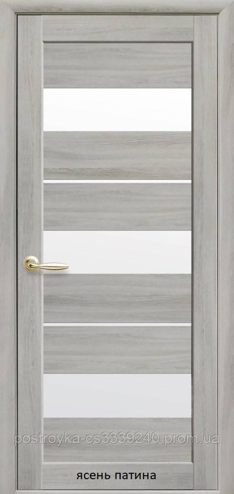 Двери межкомнатные Мода Лилу Новый Стиль Экошпон со стеклом сатин 60, 70, 80, 90