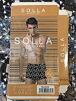 "Трусы мужские боксеры 46-52 ""Solla"" Орнамент буквы (826)"