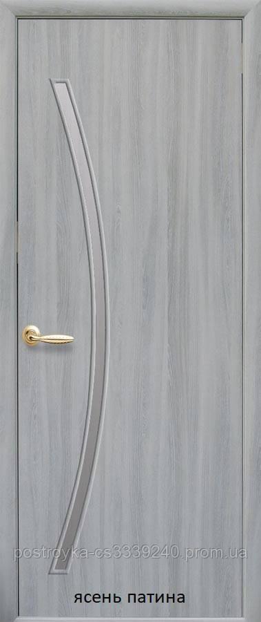 Двери межкомнатные Модерн Дива Новый Стиль Экошпон со стеклом сатин 60, 70, 80, 90