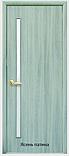 Двери межкомнатные Квадра Глория Новый Стиль Экошпон со стеклом сатин 60, 70, 80, 90, фото 2