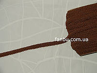 """Цветная тесьма """"шанель шубная"""" коричневая ,ширина 1.2см(1упаковка-50метров)"""