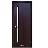 Двери межкомнатные Квадра Глория Новый Стиль Экошпон со стеклом сатин 60, 70, 80, 90, фото 4