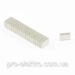 Неодимовий магніт прямокутник 6х4х1 мм