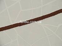 """Цветная тесьма """"шанель шубная"""" коричневая ,ширина 1.2см"""