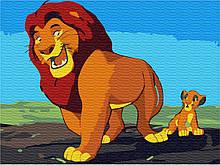 Картина по номерам  Король Лев 30*40