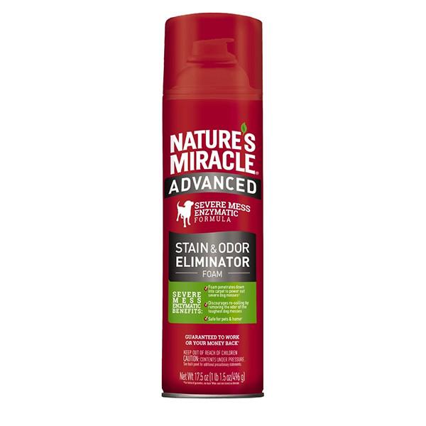 Знищувач плям і запахів для собак 518 мл з посиленою формулою аерозоль-піна 8in1 Nature's Miracle