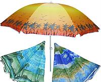 Зонт пляжный с наклоном, ткань с защитой от УФ излучения. 1,8 метра диаметр купол