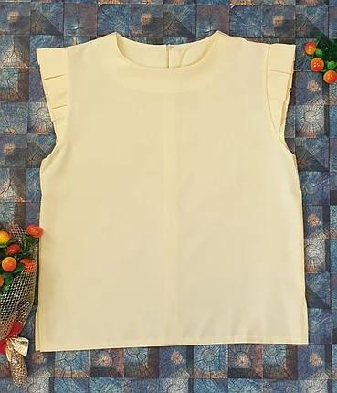Літня легка блузка для дівчинки на ріст 128,134,140,146,152 лимонний