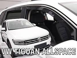Дефлектори вікон (вітровики) VW Tiguan ALLSPACE 2017 -> 5D 4шт (Heko)
