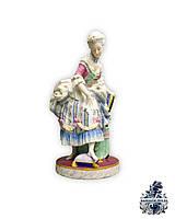 Антикварная фарфоровая статуэтка скульптура 19век старинная фигурка фарфор бисквит  vip подарок Антиквариат