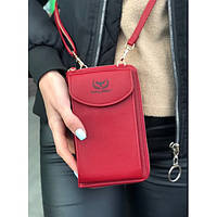Женский кошелек-сумка Wallerry ZL8591 Бордовый