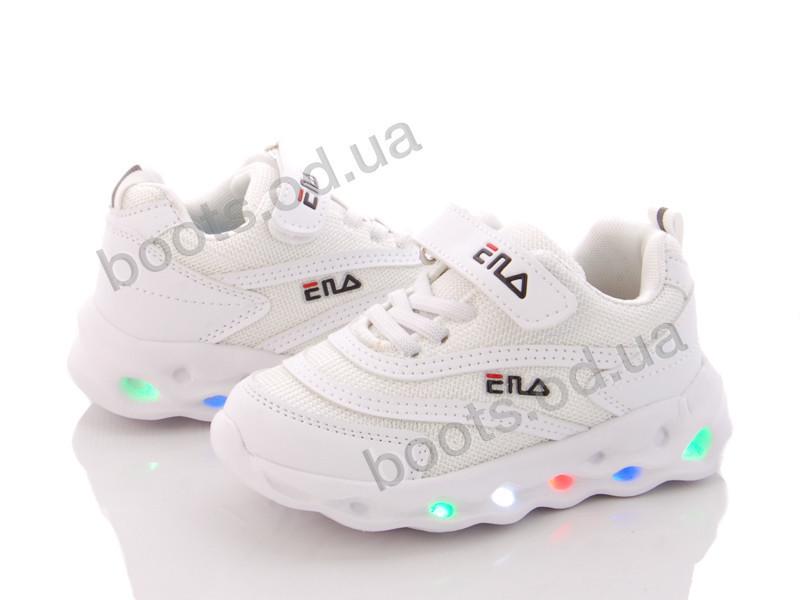 """Кроссовки  детские """"BBT"""" #H3208-2 LED. р-р 26-31. Цвет белый. Оптом"""