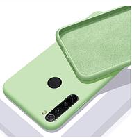 Чехол Silicone Case FULL для Realme С3 зеленый (Реалми с3)
