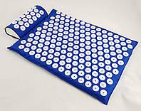 Набор коврик акупунктурный массажный + подушка Аппликатор Кузнецова OSPORT (apl-005) Синий