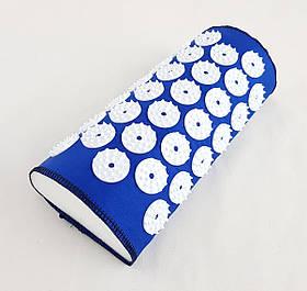Напіввалик-подушка Аплікатор Кузнєцова голчастий масажний акупунктурний OSPORT Lite Mini (LS-1003) Синій