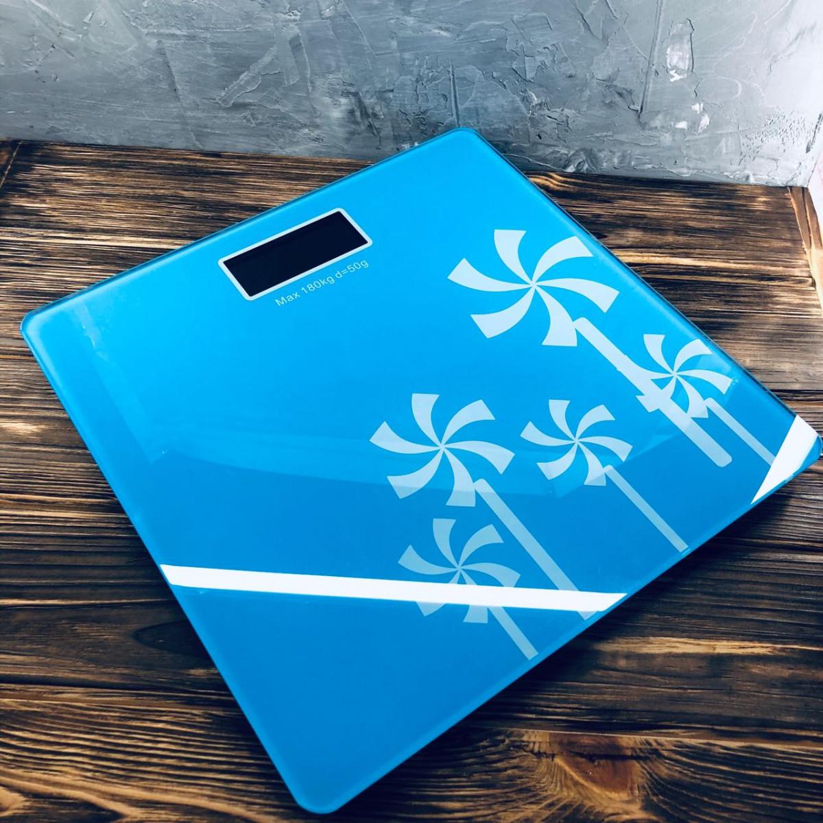 Весы напольные YZ-1604 Синие с узором