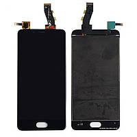 Дисплей для Meizu U10 (U680H), модуль в сборе (экран и сенсор), черный, оригинал