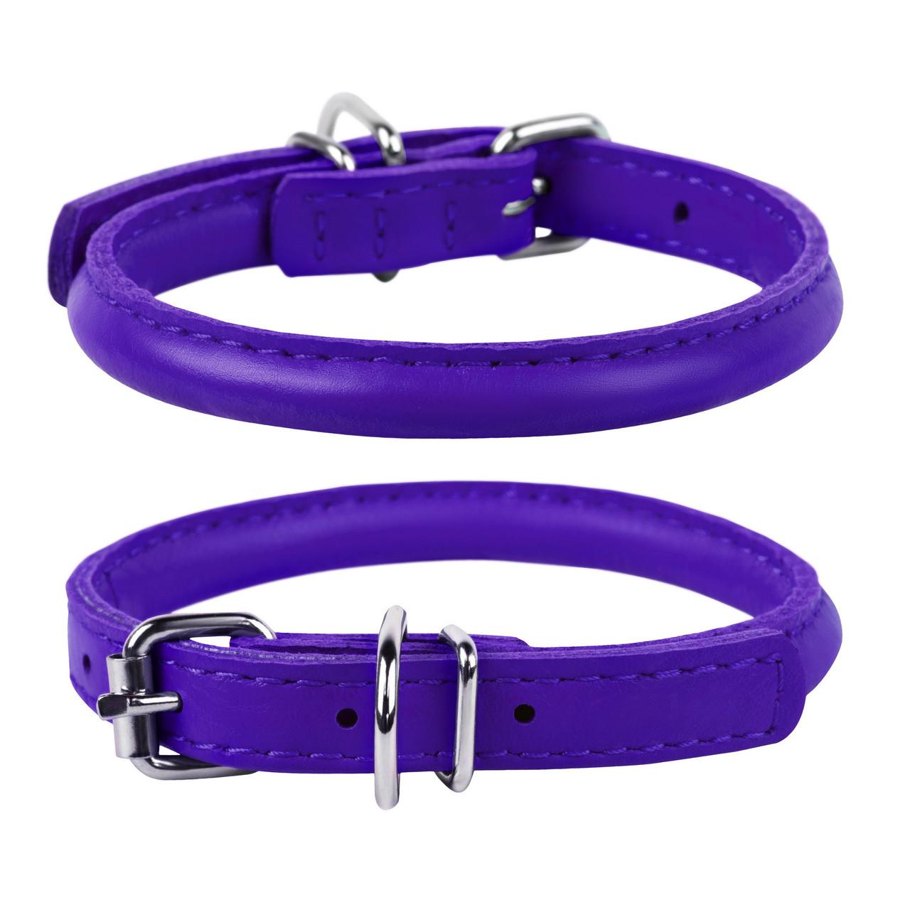 Ошейник круглый WAUDOG Glamour 10 мм 39-47 см Фиолетовый