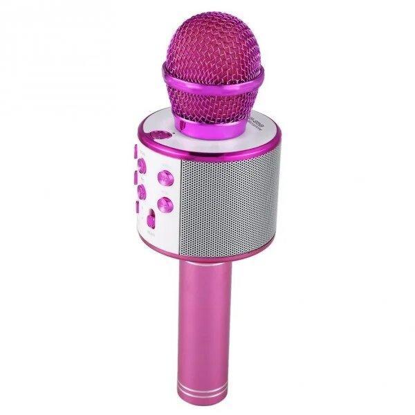 Бездротовий мікрофон караоке 858 Рожевий
