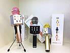 Бездротовий мікрофон караоке 858 Рожевий, фото 4