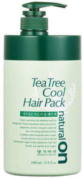 Натуральная освежающая маска на основе чайного дерева Daeng Gi Meo Ri Natural On Tea Tree Cool Hair Pack Mask