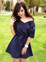 Летнее легкое платье мини с поясом, фото 3