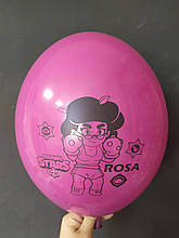"Латексный шар с рисунком Вrаwl stаrs Rosa Grape Violet 441 12 ""30см Belbal ТМ"" Star """