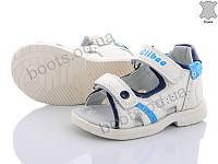 "Сандалии  детские ""Style-baby-Clibee"" #NAB1 white-moon blue. р-р 21-26. Цвет белый. Оптом"