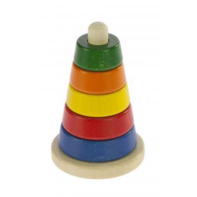 Розвиваюча іграшка nic Пірамідка конічна дерев'яна різнобарвна (NIC2311)