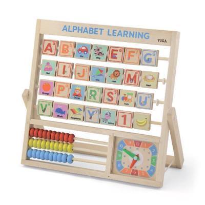 Развивающая игрушка Viga Toys Алфавит и часы (50033)