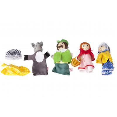 Ігровий набір Goki Набір ляльок для затиску театру Червона шапочка (51898G)