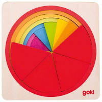Развивающая игрушка Goki Пазл-вкладыш - Круг (57737G)