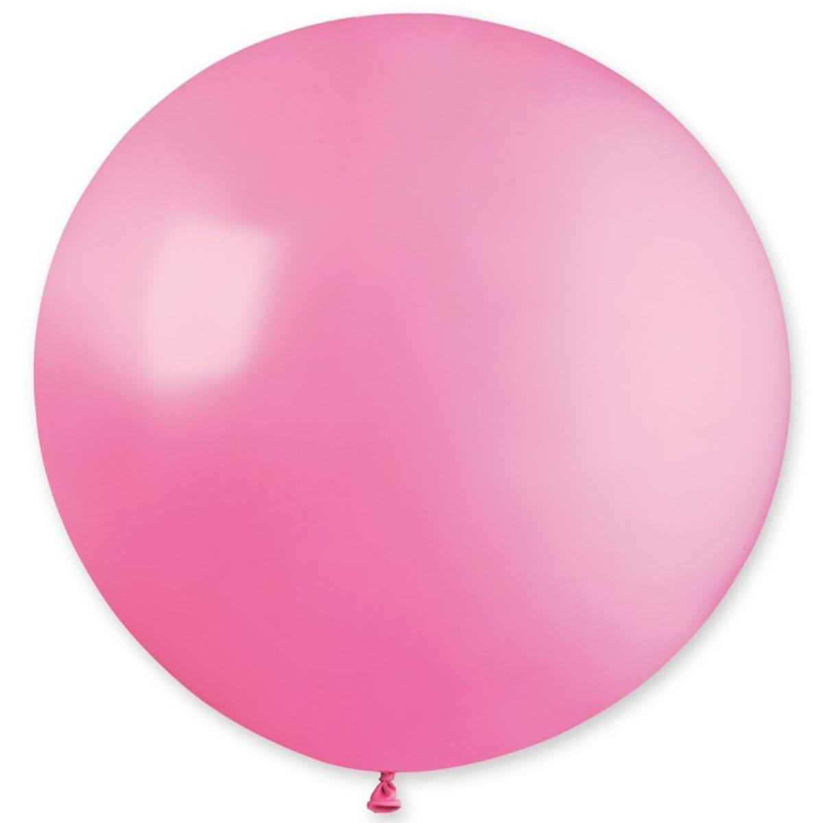 "Латексні кулі круглі без малюнка 27 ""/  06 пастель рожевий"