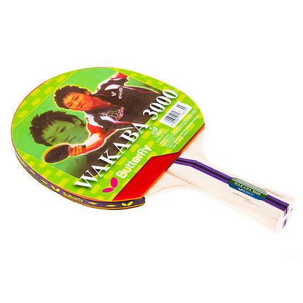 Ракетка для настольного тенниса Butterfly Wakaba 3000, фото 2