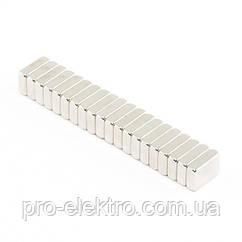 Неодимовий магніт прямокутник 10х6х3 мм