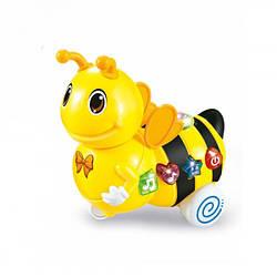 Игрушка Электронная Музыкальная Лед лампа Пчелка D Jin Shang Lu Желтая
